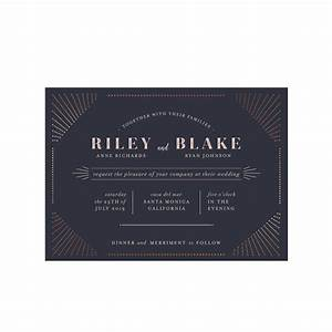 foil pressed art deco wedding invitation deco shop With wedding invitations foil pressed uk