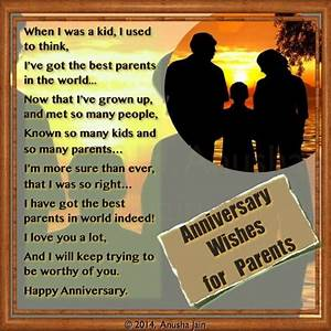 happy anniversary mom dad poems and anniversary quotes With wedding cards messages from parents