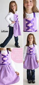free sewing pattern for Rapunzel dress up apron - It's ...