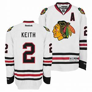 chicago blackhawks duncan keith white premier jersey w With authentic jersey lettering