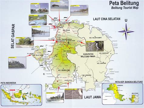 belitung tourist map rental mobil matic belitung