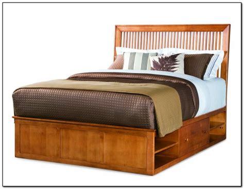 rustic king size platform bed  storage