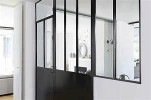 la cloison verriere creative de lapeyre authentique With porte d entrée alu avec meuble salle de bain 120 cm leroy merlin