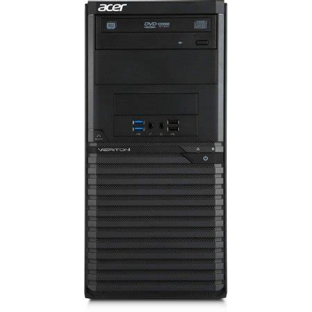 acer black veriton m2632g desktop pc with intel pentium g3250 dual processor 4gb memory