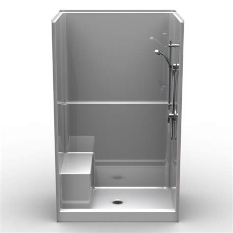 Custom Shower Pan Kits by Single Piece Curbed 48 Quot X 36 Quot X 78 1 2 Quot Shower Curbed