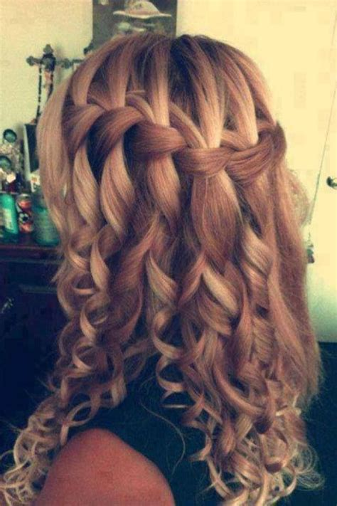 Love How Its A Casual Waterfall Braid Turned Into A Fancy