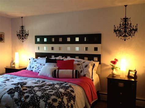black pink and white bedroom black white hot pink bedroom for the home 18350 | 17b7a3fdcff80b2377715cc961b1f3b0