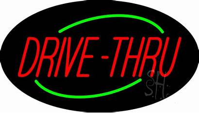 Neon Drive Thru Sign Signs Animated Deco