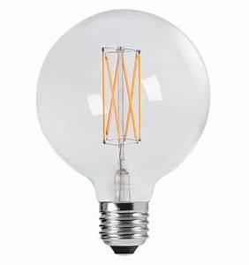 Ampoule Led E27 12v : ampoule filament led 2w e27 verre transparent globe blanc ~ Edinachiropracticcenter.com Idées de Décoration
