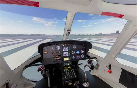 Airbus AS350 B2 VEMD Simulator - Frasca Flight Simulation