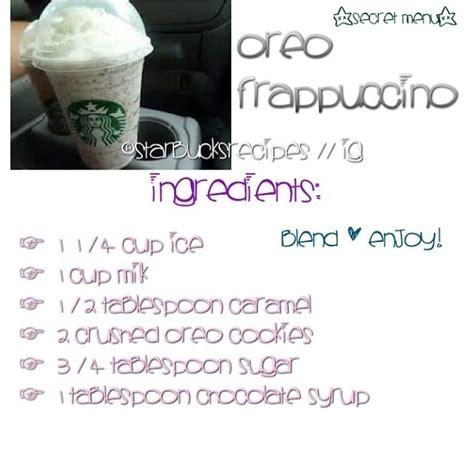 oreo frappuccino starbucks drinks recipes oreo frappuccino