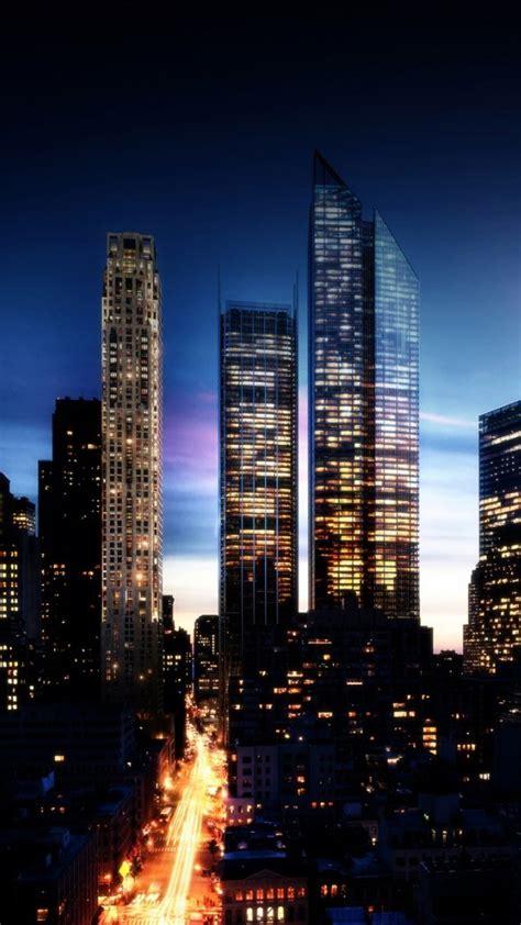 skyscrapers light peaceful building amazing city lights
