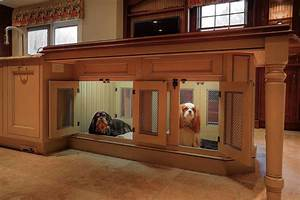 How to create a pet friendly kitchen custom cabinet and for Dog room furniture