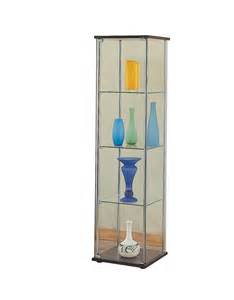 coaster fine furniture 950172 4 shelf glass curio cabinet