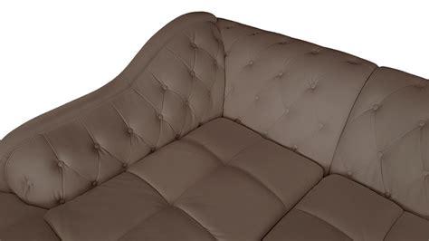 canapé style chesterfield canapé d 39 angle gauche empire taupe style chesterfield