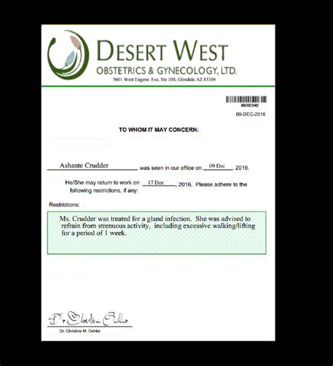 doctors letter 3 doctor note gynecology documents 42025