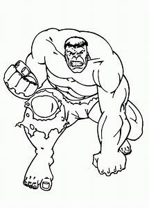 Incredible Hulk Coloring Page - Coloring Home