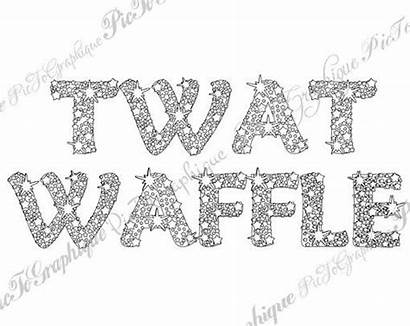 Coloring Pages Word Words Waffle Sweary Adult