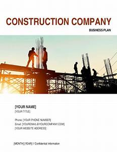 construction company business plan 2 template sample With construction company documents