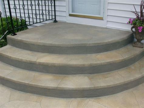 25 best ideas about concrete front steps on