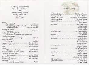 wedding reception program template sle wedding reception program wedding receptions wedding reception and
