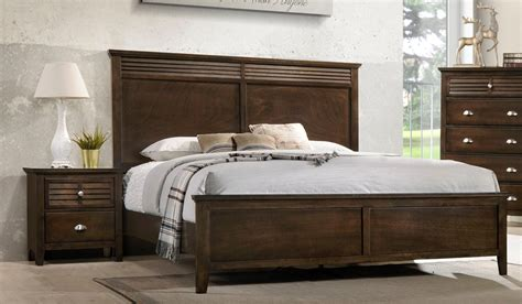lifestyle  transitional king bed  tall headboard