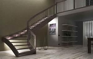 Rampe D Escalier Moderne : escalier moderne avec led escalier design escalier rampe escalier monte escalier escalier ~ Melissatoandfro.com Idées de Décoration