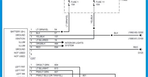 Ford Ranger Radio Wiring Diagram Schematic