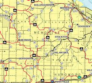 Winona County MN Map