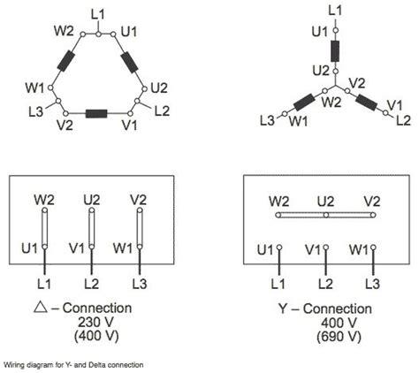 delta wye motor connection diagram e motors