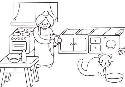 coloriage de cuisine dessin de coloriage cuisine à imprimer cp08897