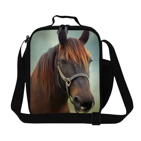 stylish horse lunch cooler bag  childrenpersonalized