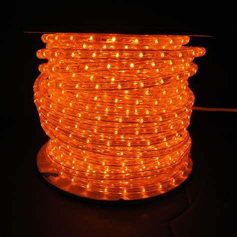 orange led rope light white wire 150 spool leds