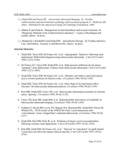 curriculum vitae word doc