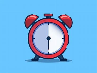 Clock Alarm Change Changing Times Gifs Cartoon
