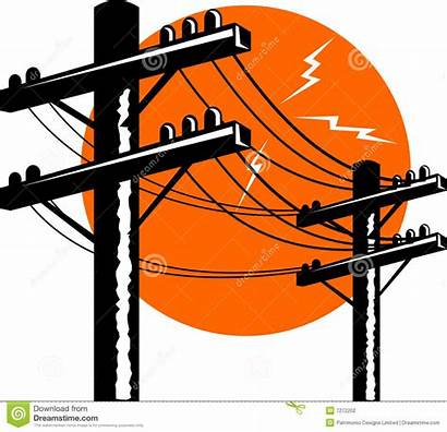 Electric Power Line Electricity Clipart Lineman Vector