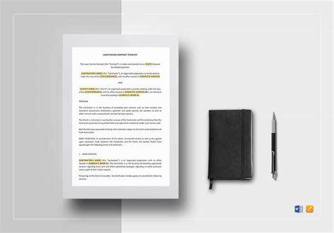 lawn service contract templates   google