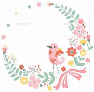 Vintage Floral Background with Cute Bird in Pastel by Top ...