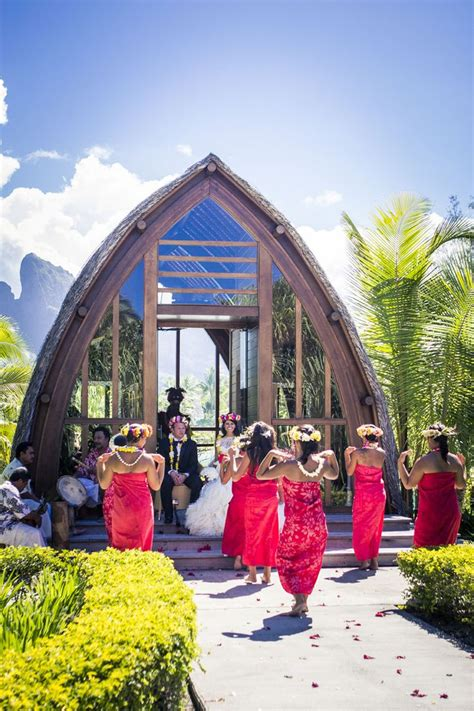 Chapel Of The Four Seasons Bora Bora Bora Bora Wedding