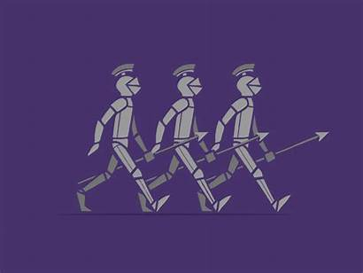 Knights Marching Animation Dribbble Knight Reference