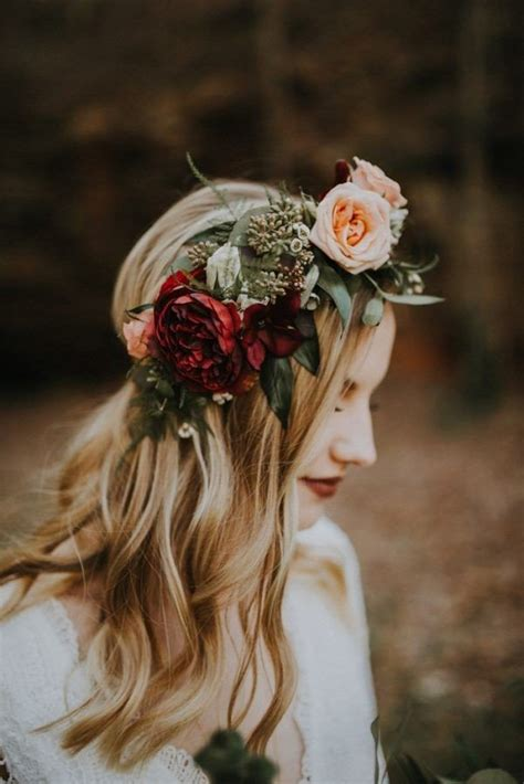 gorgeous wedding hairstyles  flower crown page