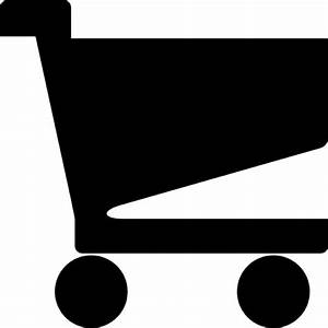 Black simple shopping cart Icons | Free Download