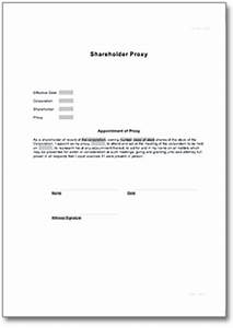 shareholder proxy form o de business plan business form With proxy letter template