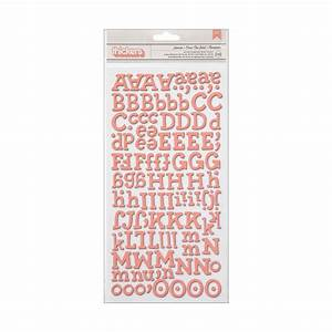 american crafts thickers fabric chipboard white letter With fabric letter stickers