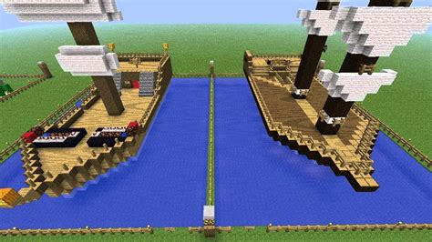 How To Make A War Boat In Minecraft by Minecraft Building Challenge Ep 4 Pirate Ships