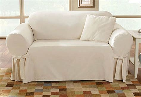 Cotton Duck Loveseat Slipcover by Sure Fit Cotton Duck One Sofa Slipcover Box