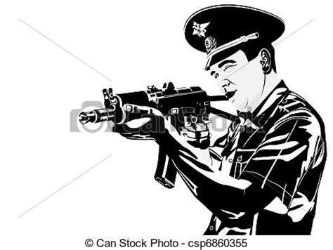 policeman with gun clipart black and white clipart vector of a policeman with a gun the
