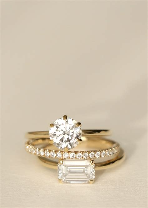 modern engagement rings by vow v o minimalist wedding