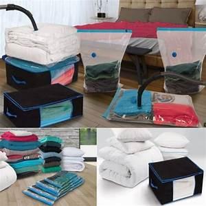 Sac De Rangement Sous Vide Gifi : lot de 5 sacs housses et 2 coffres rangement sous vide ~ Dailycaller-alerts.com Idées de Décoration
