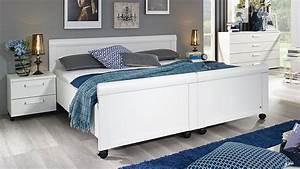 Bettgestell Weiß 180x200 : komfortbett evelyn geteiltes bett bettgestell auf rollen wei 180x200 ~ Buech-reservation.com Haus und Dekorationen